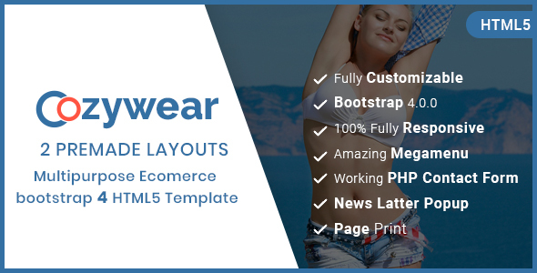 Image of Cozywear- Responsive Multipurpose E-Commerce HTML5 Template