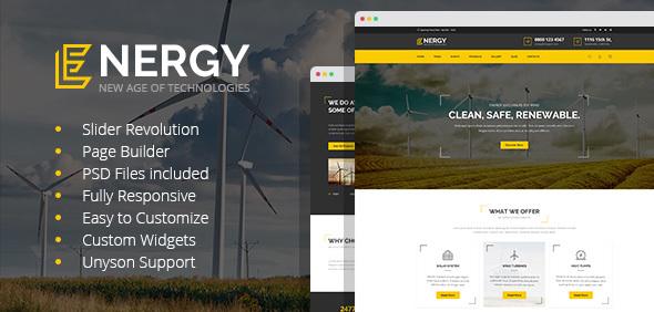 Energy - solar and alternative energy WordPress Theme - Technology WordPress