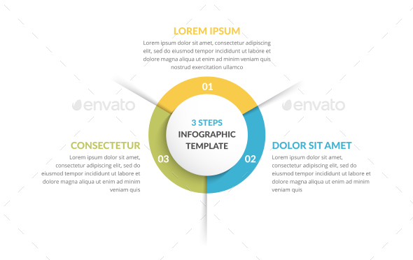 Circle Infographics with Three Elements - Infographics