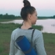 Young Woman Walking To Do Morning Yoga Practice - VideoHive Item for Sale