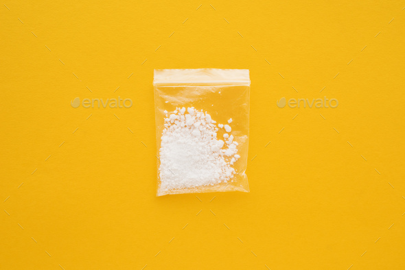 Cocaine drug in resealable bag - Stock Photo - Images