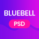 Bluebell - App Landing Page PSD Template - ThemeForest Item for Sale
