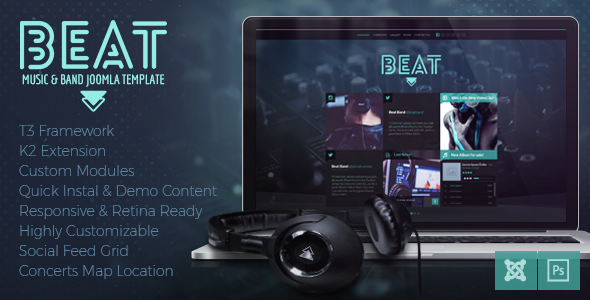 Joomla Template Music And Bands Entertainment Beat Preview 01 Jpg