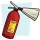 Free Download Cartoon Red Fire Extinguisher Vector Icon Nulled