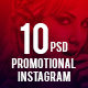 Promotional Instagram Templates (10 in 1) - GraphicRiver Item for Sale