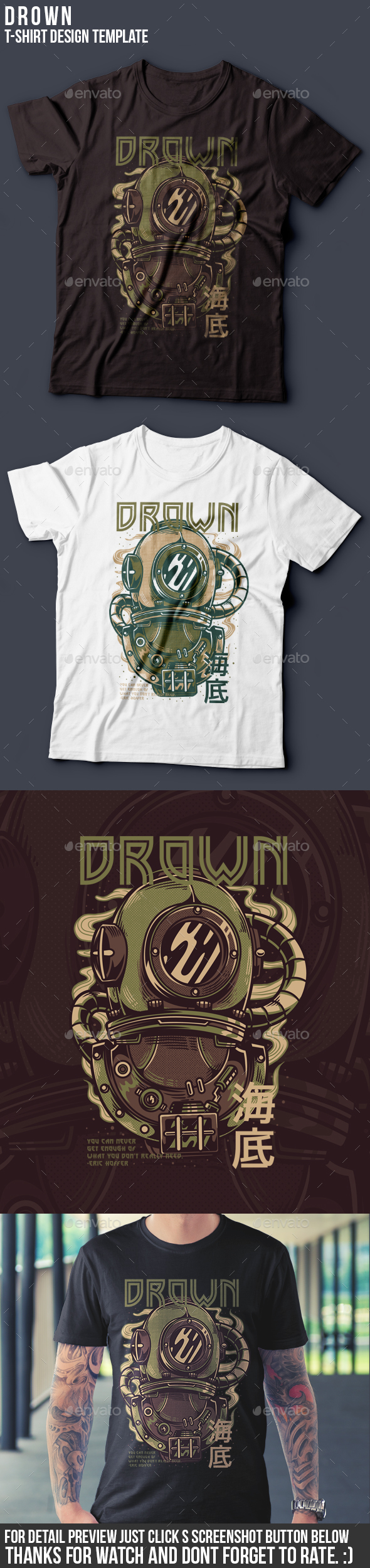 Drown T-Shirt Design