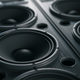 Multimedia  acoustic sound speaker system. Music close up black - PhotoDune Item for Sale