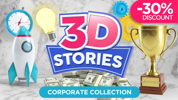 Videohive 21562016 3D STORIES | Icons Explainer Toolkit - Free download
