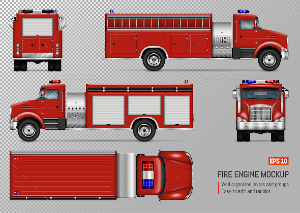 Fire Engine - Man-made Objects Objects