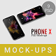 Phone X Mockup-Graphicriver中文最全的素材分享平台