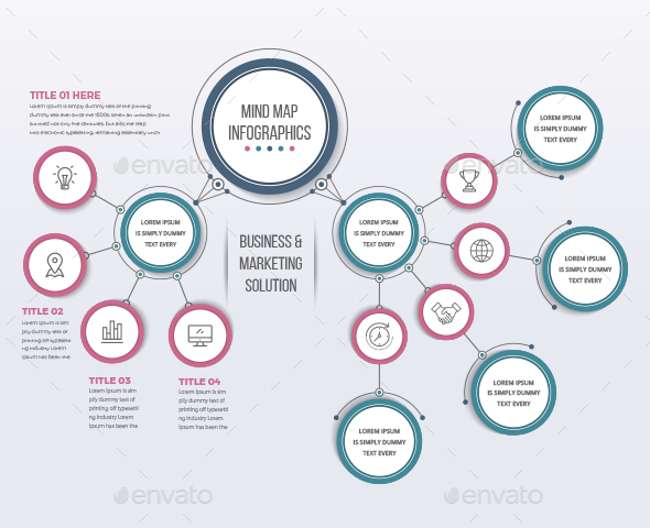 Mind Map Template - Infographics