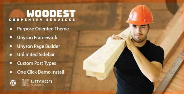 Image of Woodest - Wood Carpentry WordPress Theme