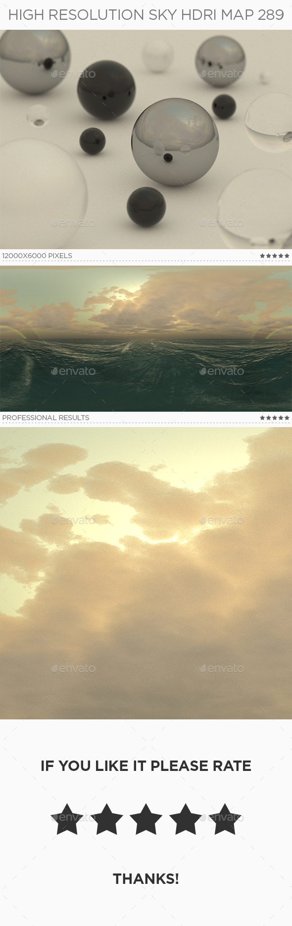 High Resolution Sky HDRi Map 289 - 3DOcean Item for Sale