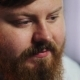 Calm Fat Man Looks at the TV-set.  Portrait of a Bearded Man Who Has Problems with Weight - VideoHive Item for Sale