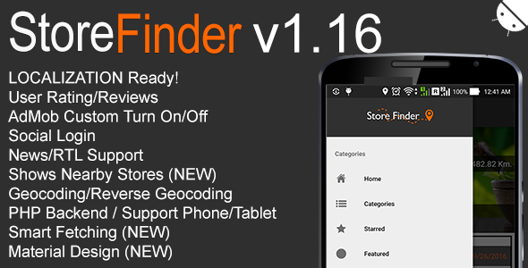 Store Finder Full Android Application v1.16 - CodeCanyon Item for Sale