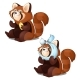 Free Download Healthy and Diseased Red Panda Isolated on White Nulled