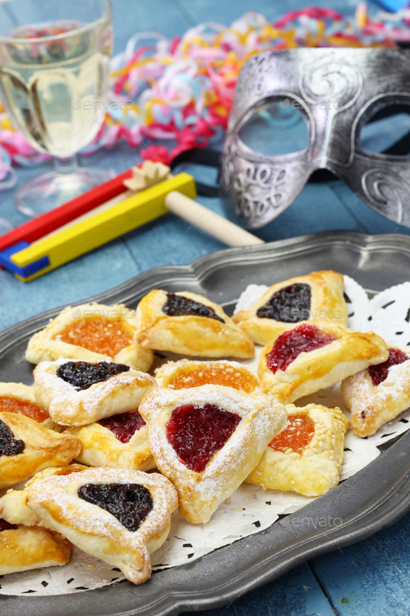 homemade hamantaschen cookies - Stock Photo - Images