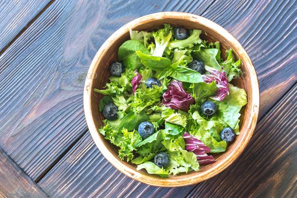 Salad mix close up - Stock Photo - Images