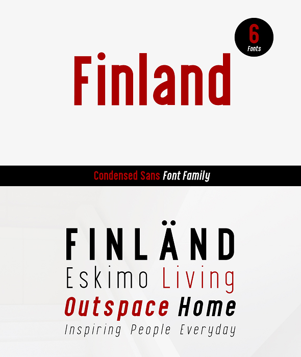 Finland Font Family - Condensed Sans-Serif