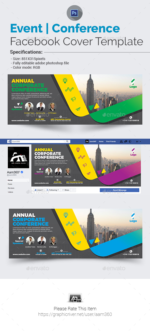Annual Event | Conference Facebook Cover - Facebook Timeline Covers Social Media