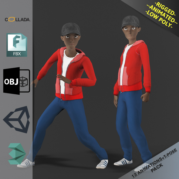 Cartoon Boy Motion Pack 2 - 3DOcean Item for Sale