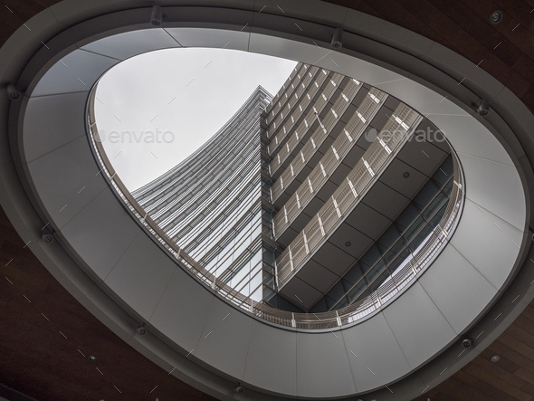 Modern buildings in Gae Aulenti square, Milan - Stock Photo - Images