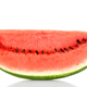 Sweet watermelon slice, front view, over white - PhotoDune Item for Sale