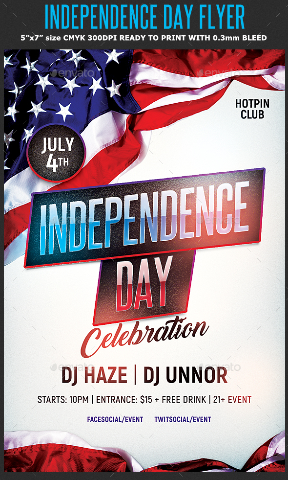 Independence Day Flyer Template by Hotpin | GraphicRiver