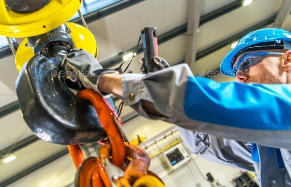 Warehouse Crane Operator - Stock Photo - Images