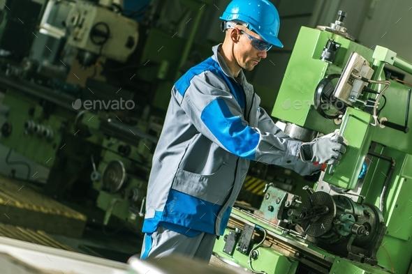 Metalworking Machine Job - Stock Photo - Images