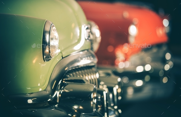 Classic Cars Auction - Stock Photo - Images