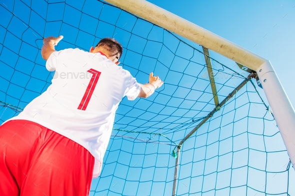 Goalkeeper in the Goal - Stock Photo - Images