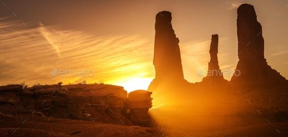 Raw Arizona Sunset - Stock Photo - Images