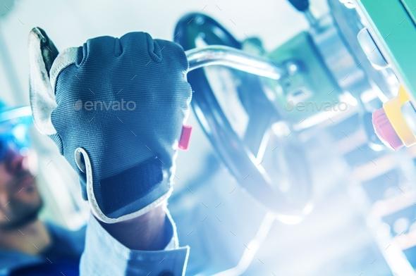 Machine Operator Closeup - Stock Photo - Images
