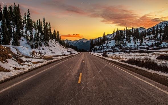 Colorado Mountain Pass - Stock Photo - Images