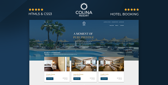 Colina - Hotel HTML Template - Travel Retail