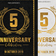 Black & Gold Anniversary Flyer - GraphicRiver Item for Sale