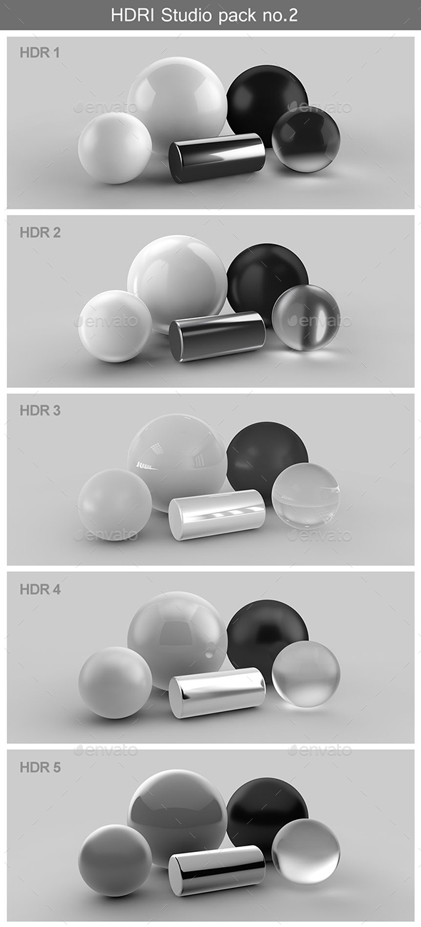HDRI Studio PACK no.2 - 3DOcean Item for Sale