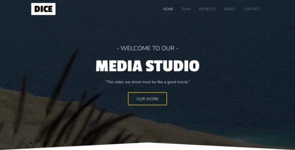 Dice - Media Studio Bootstrap 4 One Page