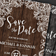 Lace & Wood Save the Date Invitation - GraphicRiver Item for Sale
