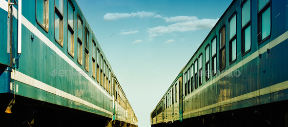 Two trains - Stock Photo - Images