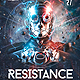 Resistance EDM Electro Dj Party Flyer - GraphicRiver Item for Sale