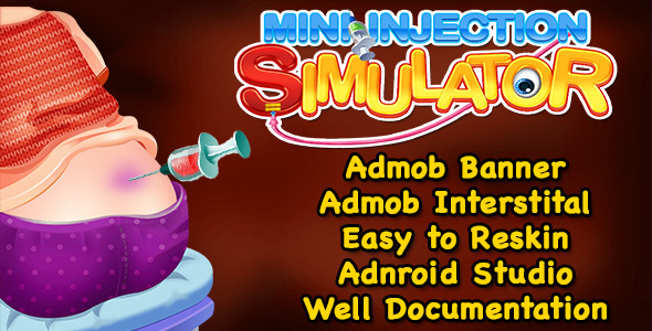 Top Kids Game + Mini Injection Simulator + (Admob + Android Studio) - CodeCanyon Item for Sale