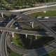 Multi-Level Road Interchange and Cars Traffic at Sunny Day Aerial View - VideoHive Item for Sale