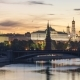 Moscow Kremlin and Moscow River in the Summer Morning in Russia - VideoHive Item for Sale