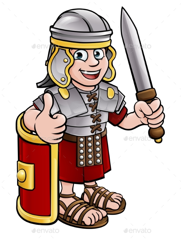 Cartoon Roman Soldier Character - Miscellaneous Vectors