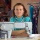 Seamstress Sits at the Workplace in Sewing Studio - VideoHive Item for Sale
