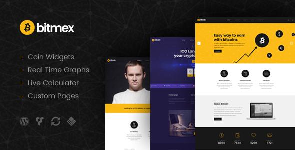 Bitmex – Cryptocurrency & Bitcoin WordPress Theme
