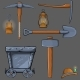 Cartoon Mining Set - GraphicRiver Item for Sale