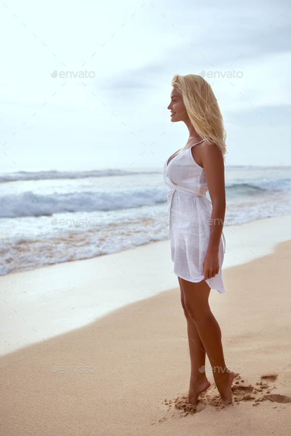 Young attractive girl in summer - Stock Photo - Images